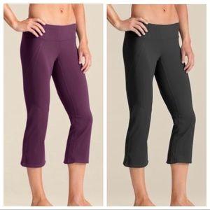 Set Of Two Athleta Power Ananda Capri Yoga Pants